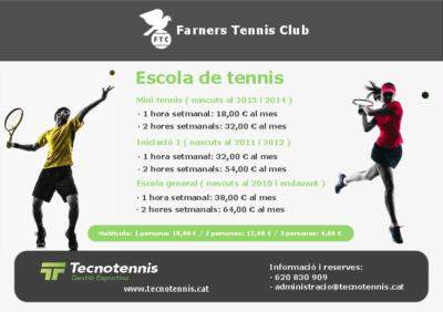 Escola de Tennis 2018-2019 ( Farners Tennis Club )