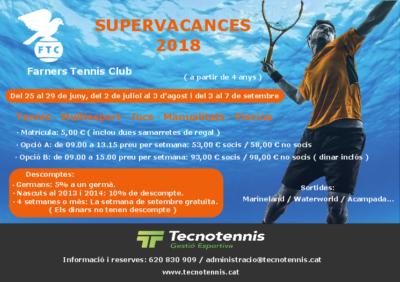 Supervacances 2018 Farners Tennis Club