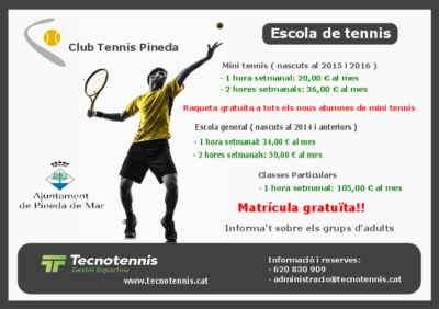 Escola de tennis 2020-2021 ( Club Tennis Pineda )
